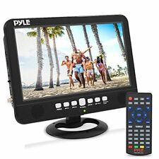 "Pyle 10"" Portable Widescreen TV Rechargeable Battery Digital Video Tuner"