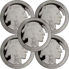 SilverTowne Buffalo Stackables 1oz .999 Silver Medallion (5pc)