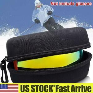 Portable Ski Goggles Case Cycling Snowboarding Glasses Storage Carrier Bag Box