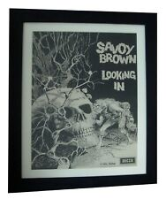 SAVOY BROWN+LOOKING IN+RARE ORIGINAL 1970 POSTER+AD+FRAMED+EXPRESS GLOBAL SHIP