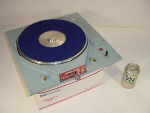Vintage Russco Studio-Pro Model B QRK 2-Speed Transcription Turntable w/ Bodine