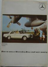 Mercedes Benz Range Dec 1969 Poster format covering 220 to 600 models How to own