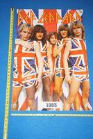 DEF LEPPARD UK Flags1983 POSTER Printed in 2018