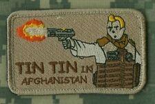 Adventure Of Tintin in Afghanistan Camp Bastion Helmand Vel ⚙ Moral Aufnäher