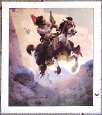 "Close Call by W. R. Leigh - 18"" X 20"" Western Art Print"