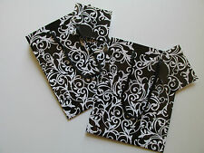 12 Small DAMASK Paper GIFT BAGS wedding party FREE S/H shower favor supplies