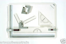 A3 Drawing Board Pro-Inc Drawing Head, Tilters & Set Square-5029R-Clearance sale