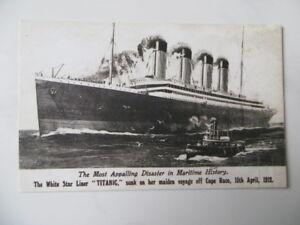 Original Titanic Postkarte 1912 - RAR
