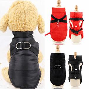 Waterproof Autumn Winter Pet Vest Puppy Dog Cat Warm Padded Coat Harness Jacket