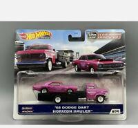 Hot Wheels 2020 Team Transport 68 Dodge Dart Horizon Hauler Truck *PINK*