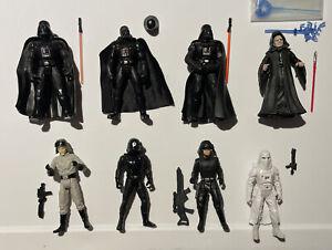 Star Wars Lot Of 8 Imperial Troops Troop Forces POTF2 Vader Emperor Death Star