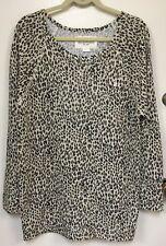 Girls OBEY Leopard Print Lightweight Crewneck Sweatshirt Size Large NWD