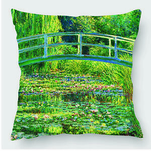 Monet The Japanese Footbridge - Cushion Cover (UFCUA026)