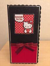 HAND MADE personalizzata giorno S. Valentino decoupaged Hello Kitty CARD 5
