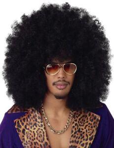 Super Jumbo Afro Black 70s Disco Hippie Pimp Men Costume Wig