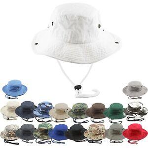 New Packable Cotton Safari Bucket Hat Hiking Fishing Bonnie Bush Outdoor Sun Cap