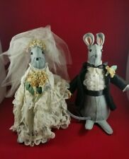 Bride and Groom Mice Wedding Couple Handcrafted