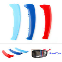 M Color Kidney Grille Bar Cover Stripe Clip Decal For BMW 1 Series E87 04-11 BU