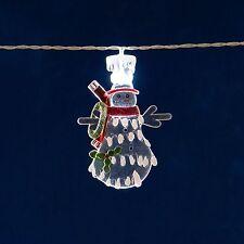 Konstsmide 1288-203 LED Schneemann Lichterkette aus Acryl Dekolichterkette