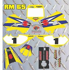 SUZUKI RM65 KLX FULL GRAPHIC SET DECAL FREE NAME AND NUMBER ALL YEARS