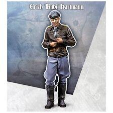 Escala 75 guerra frontal Luftwaffe piloto Erich Hartmann Segunda Guerra Mundial 1/35th Kit Sin Pintar Resina