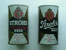 1960s-70s STROH'S BEER CANS (2)