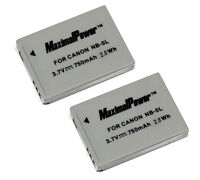 Non-OEM Battery for CANON NB-5L PowerShot ELPH SD880 SD890 SD900 SD950 (2PK)