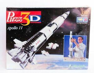 PUZZ3D APOLLO 11 336 PIECES Difficult New Sealed Box Rocket Moon Landing Rocket