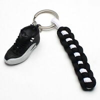 3D Mini Sneaker Shoes Keychain Retro Nylon With Strings for Air Jordan 12