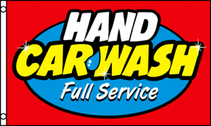 HAND CAR WASH Flag 3x5 ft Business Advertising Sign Banner Auto Detailing-New