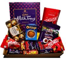 Large chocolate hamper personalised happy birthday gift box.
