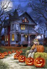 New listing Halloween Spooky Manor Scarecrow Jack -O-Lanterns Sm Garden Toland Flag