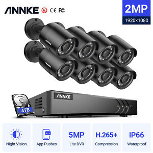 ANNKE 5IN1 5MP Lite 8+2 Channel DVR HD 3000TVL CCTV Camera Security System IP66