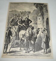 1879 magazine engraving ~ NAAMAN AT THE DOOR OF THE HOUSE OF ELISHA
