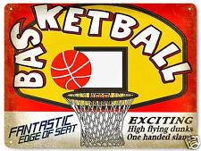 Basketball Nba metal Sign / boys mancave vintage style gift Wall decor art 349