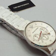 Emporio Armani Gents Chronograph Sport Watch Round Stainless Steel AR5859 AR2