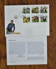 Sweden Football ( Soccer ) 6 Stamp Set 2004 Fdc + Info Sheet