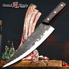 Traditional Chinese Knife Handmade Clad Steel Kitchen Knives Chef Slicing Knife