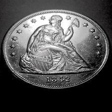 1842 Seated Dollar  No Motto * Choice BU Proof-Like *