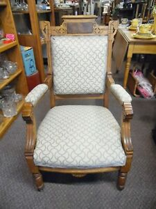 Antique Eastlake Accent Chair