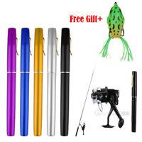 Mini Aluminum Portable Pen Shape Fishing Fish Rod Pole+Reel+Fishing Lures Kits