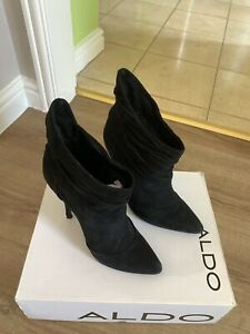 Size 4 Aldo Black Suede Ankle Boots Worn Once Cost £80