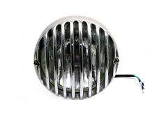 "Headlight For Harley Davidson Project - 6 1/2"" Prison Style Polished Aluminium"