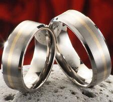 Eheringe Verlobungsringe Ringe aus Titan und 585 Gold und Gravur TG174
