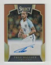 2016-17 Panini Select Soccer Auto card :Theo Walcott #44/49
