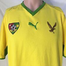 Puma Togo National Football Club Soccer Jersey XL Yellow FIFA Adebayor