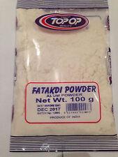 2X100g Allume/Fatakdi polvere SOLFATO DI ALLUMINIO E Potassio Deodorante Antibatterico