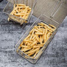 Stainless Steel Fries Basket Mini Frying Net Square Block Mesh Deep-fry Basket