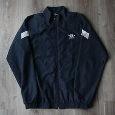 Mens Vintage Umbro Spell Out Track Top Tracksuit Jacket Coat 90s RARE S Navy