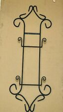 Black Wrought Iron Vertical 2-Plate Holder Wall Hanger Display, Pre-owned